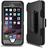 iPhone 6 Case, iPhone 6s Defender Case with Belt Clip, Kickstand, Holster, Heavy Duty, 4-in-1 Dropproof Shockproof Dustproof, Built-in Screen Protector Rugged Rubber Case Cover for iPhone 6/6S