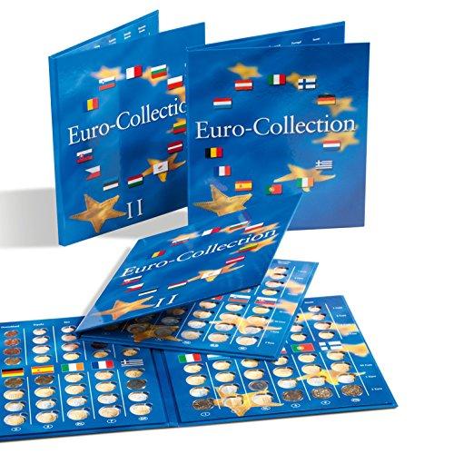 LEUCHTTURM PRESSO Münzalbum für Euromünzen | Band 1 + 2 im Set | Aufbewahrung für Kursmünzensatz aus Deutschland, Portugal, Spanien & viele andere Euro-Länder
