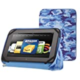 "PUNCHCASE By Leslie Hsu Ace Zip Around Standing Case, Blue Camouflage (Made for Kindle Fire HD 8.9"")"