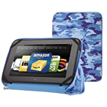 """PUNCHCASE By Leslie Hsu Ace Zip Around Standing Case, Blue Camouflage (Made for Kindle Fire HD 8.9"""")"""