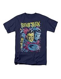 Star Trek - Mens Classic Crew Illustrated T-Shirt In Navy