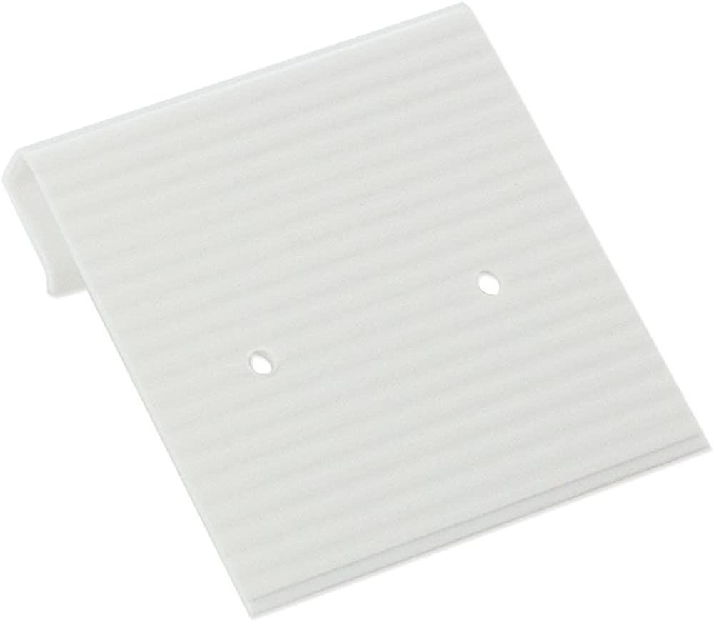Earring Cards 1×1 White Ribbed Pack 100 Earring Jewelry Display