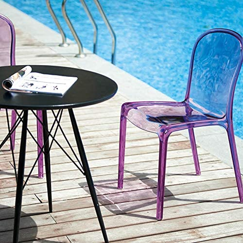 Tabouret Transparent Créatif Chaise De Maquillage en Cristal Simple Chaise en Plastique De Ménage Chaise De Cuisine Dossier Chaise À Manger,E