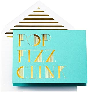 product image for Crane & Co. Kate Spade New York Pop Fizz Clink Foldover Holiday Cards (TF6118)
