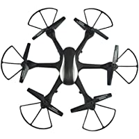 Owill WARNING RF604 2.4G 6-Axis WIFI FPV 2.0MP HD Camera LED Drone Quadcopter FPV Real Time Transmission (Black)