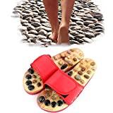 Foot Massager Slippers, Relaxing Acupuncture Massage Sandals, Wooden Adult Acupressure Shoes for Women