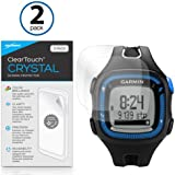 Garmin Forerunner 15 Black/Blue Screen Protector, BoxWave [ClearTouch Crystal (2-Pack)] HD Film Skin - Shields From Scratches for Garmin Forerunner 15 Black/Blue