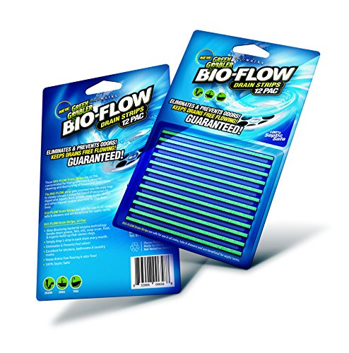 Green Gobbler SYNCHKG121210 BIO-Flow Strips-12 (Drain Cleaner & Deodorizer), 12 Pac (Best Drain Opener For Kitchen Sink)