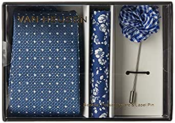 Van Heusen Men's Neck Tie Accessories Gift Pack, Blue, One Size
