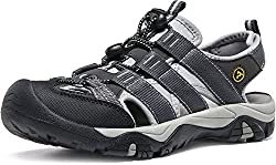 Atika At-w107-kgy_women 8 B(f) Women's Sports Sandals Trail Outdoor Water Shoes 3layer Toecap W107
