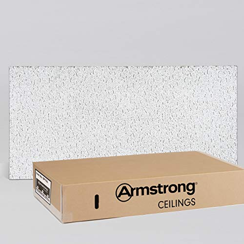 (Armstrong Ceiling Tile; 2x4 Ceiling Tiles - Acoustic Ceilings for Suspended Ceiling Grid; Quality Drop Ceilings Direct from the Manufacturer; FISSURED Item 755 - 12 pcs Lay-in)