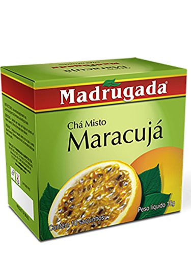 Cha de Maracuja Passion Fruit Tea Organic Natural from Brazil - 4 Box Bundle by Madrugada Cha