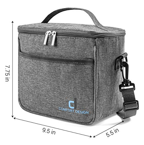 SMALL COMPACT Thermal Insulated Lunch Box for Adult Men & Women, Reusable, Cooler Tote Bag | Cool & Warm Food Storage for 6 Hours, | Leak-proof, Easy to Clean, Ideal for Work, School, Travel