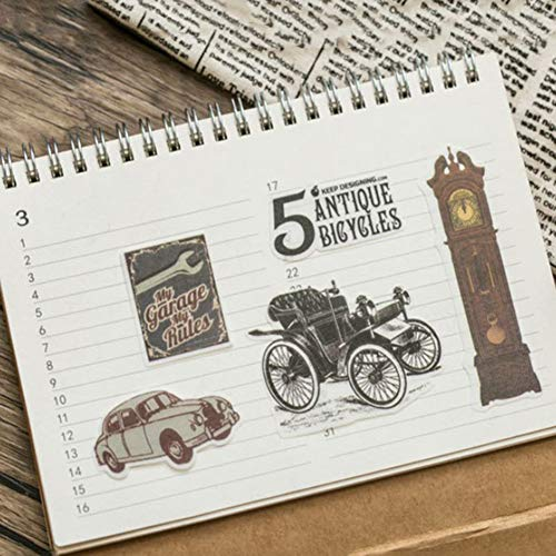 eroute66 Vintage Light Clock Furniture Plant DIY Scrapbooking Album Diary Stickers 2Pcs 1# by eroute66 (Image #5)