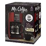 Mr Coffee Red Programmable Coffee Maker Mr. Coffee Brewing Coffee Maker (12-Cup Advanced Brew Programmable, Red BVMC-SJX36GT) (Renewed)