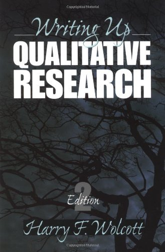 Writing Up Qualitative Research  Qualitative Research Methods