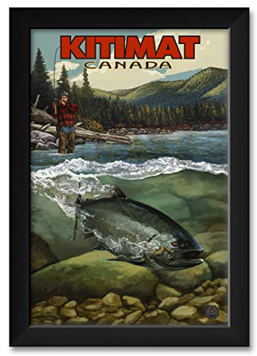 (Kitimat River Salmon Run Kitimat British Columbia Canada Framed Art Print by Paul A. Lanquist. Print Size: 12