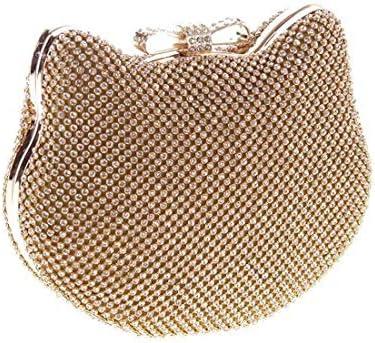 ウィメンズハンドバッグ、イブニングバッグパーティーバッグ、ファッションダイヤモンドバッグ、ハンドバッグクロスボディバッグ、20×16×6(カラー:イエロー) 美しいファッション (Color : Yellow)