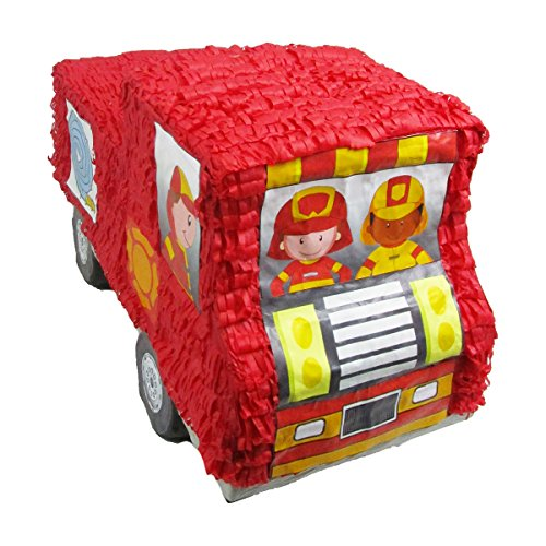 Pinatas for Firefighters Party, Game, Decoration and Photo Prop, Fire Engine