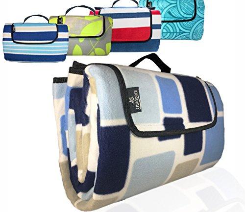 XXLarge Premium 3-Layer Most Durable Outdoor Blanket/Picnic Blanket - Waterproof with Cozy Polar Fleece Top| 80