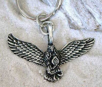 Keychain Eagle Bald (Pewter Eagle Patriotic USA Keychain Key Tag)