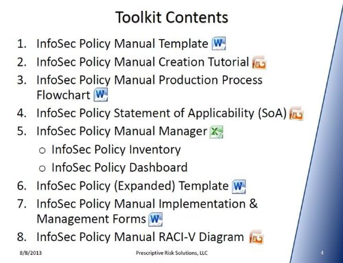this infosec policy manual template with accompanying tutorial and auditor approved policy manager
