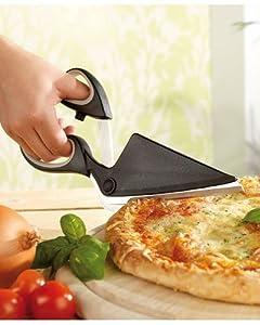 Rosenstein & Söhne Pizza-Schere mit extra scharfen Klingen