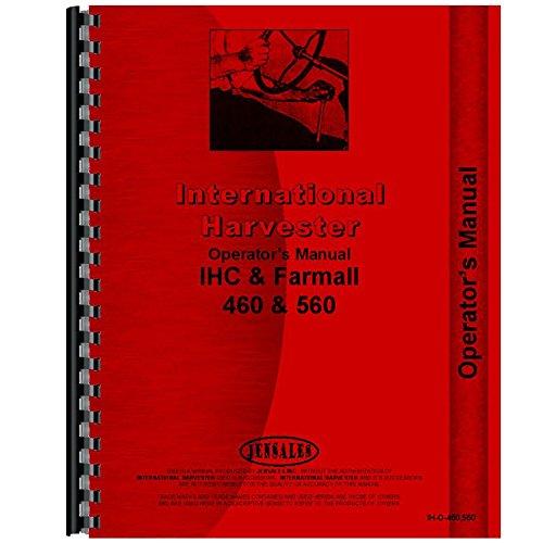 - New International Harvester 560 Tractor Operators Manual (Row Crop & HC)