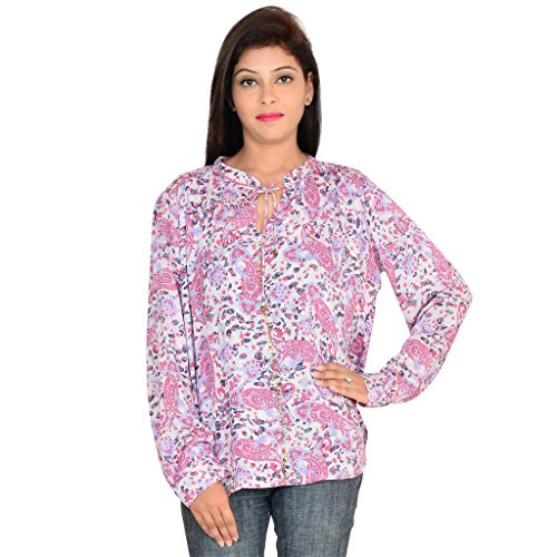 GOODWILL Casual Printed Full Sleeve Multicolor Rayon Top