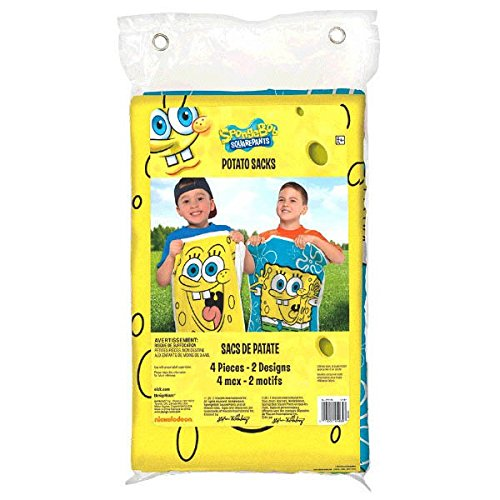Amscan Superb SpongeBob Birthday Party Potato Sack Game, Yellow by Amscan