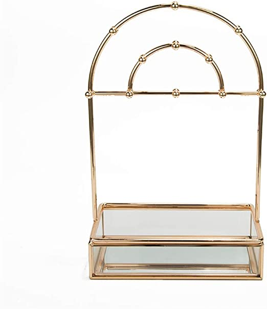 Amazon Com Jewellery Display Stand Holder Jewelry Organizer Stand Metal Jewelry Display Stand With Ring Tray Decorative Jewelry Holder For Necklace Earring Bracelet And Watch Earring Necklace Jewelry Organiz Home Kitchen