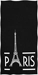 REFFW Bath Towels Hand for Home Bathroom Hotel Gym Spa Stylish Romantic France Paris Eiffel Tower Decorative Multipurpose Guest Highly Absorbent Flower Soft Large