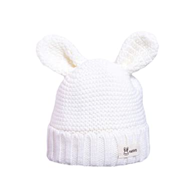 ProperLI Chapeau pour Enfant Bonnet tricoté de Couleur Unie en Forme  d oreille de Lapin Automne et Hiver Chaude Coton épais  Amazon.fr   Vêtements et ... 37afc227291