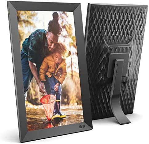 NIX 15 Inch Digital Picture Frame – Portrait or Landscape Stand, Full HD Resolution, Auto-Rotate, Remote Control – Mix Photos and Videos in The Same Slideshow