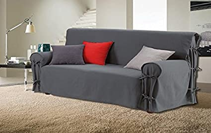 Stupendous 3 Seater Sofa Cover Charcoal Grey Bralicious Painted Fabric Chair Ideas Braliciousco