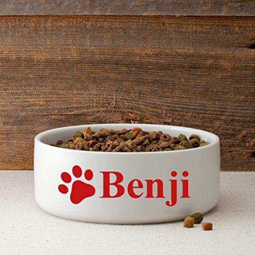 Personalized Large Dog Bowl Happy