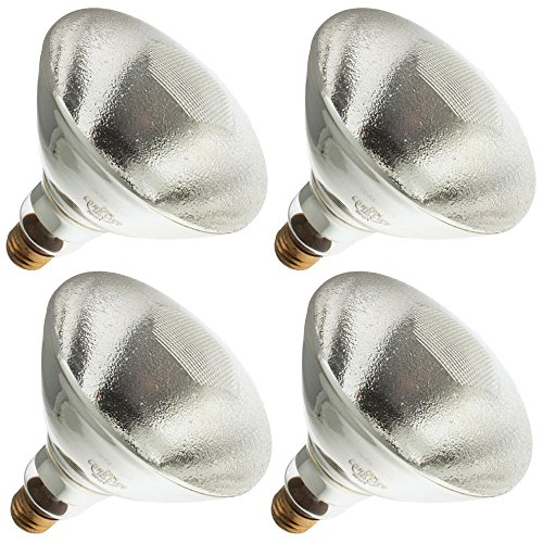 Industrial Performance 150PAR/SP-OP 130V, 150 Watt, BR38, Medium Screw (E26) Base Light Bulb (4 Bulbs)