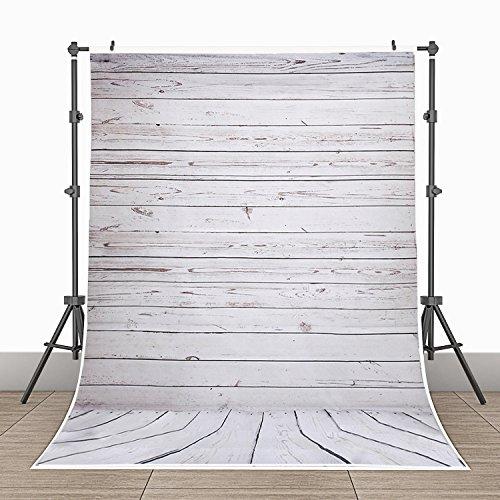 3x5ft Photography Background Vinyl Backdrop Paper Studio Props-Gray Vertical Grainy Wood Floor