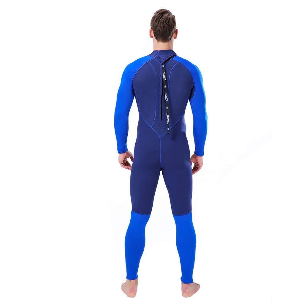 Meidexian888 Super Stretch Swimsuit,WetSuit 3MM Full Body Suit Diving Suit Swim Surf Snorkeling For Men (Blue, XL) by Meidexian888 (Image #3)