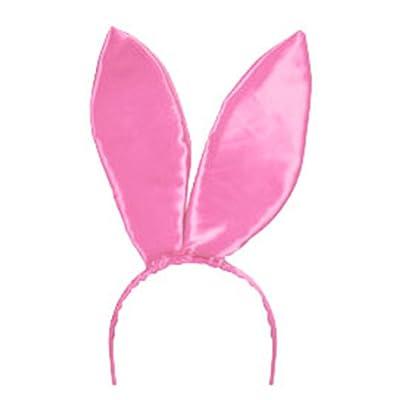 Rhode Island Novelty 9.5 Inch Pink Satin Bunny Rabbit Ears, One Pair: Clothing