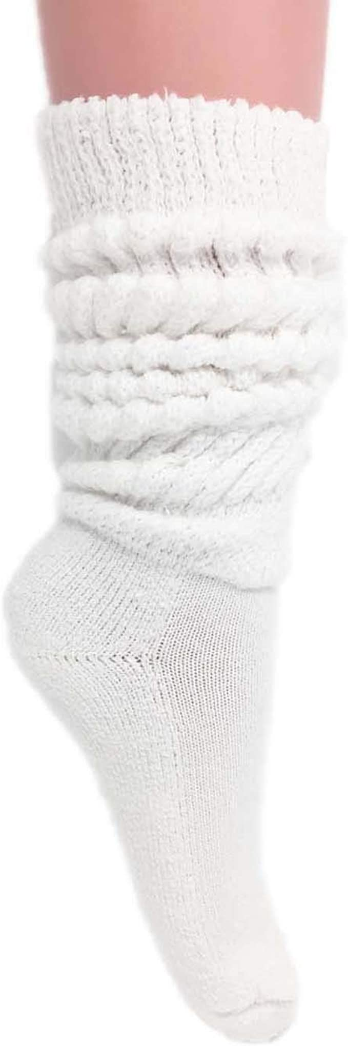 Vintage Style Socks- Knee High, Bobby, Anklet Womens Extra Long Heavy Slouch Cotton Socks Size 9 to 11 $10.99 AT vintagedancer.com
