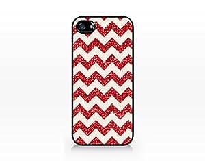 Christmas Chevron Glitter Pattern - Hard Plastic Case for Iphone 5/5s