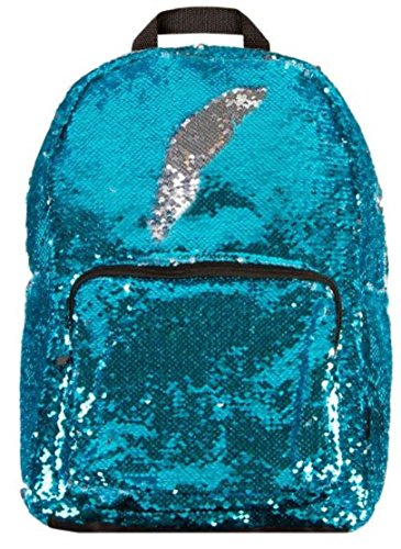 Style.Lab by Fashion Angels Magic Sequin Backpack - Turquoise/ Silver -
