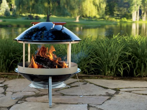 Amazon Com Weber 2726 Wood Burning Fireplace Outdoor Fireplaces