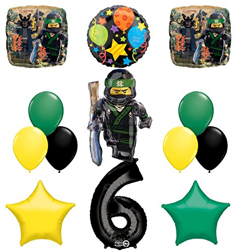 The Ultimate Lego Ninjago Sixth 6th Birthday party supplies and Balloon Decorations]()