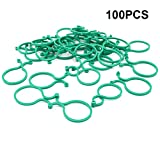 KINGLAKE 100 Pcs Plant Garden Clips Plant Support Clips Twisty Plant Rings for Securing Vine Tree Vegetables