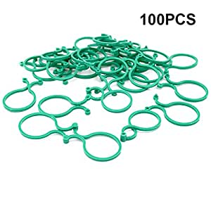 100Clips Pcs Planta Jardín Planta apoyo clips Twisty planta anillos para árbol de Vine verduras