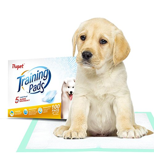 Thxpet Puppy Pads Super Absorbent Leak-proof 100 Count Dog Pee Training Pads 22 x 23 (Training Pad Package)