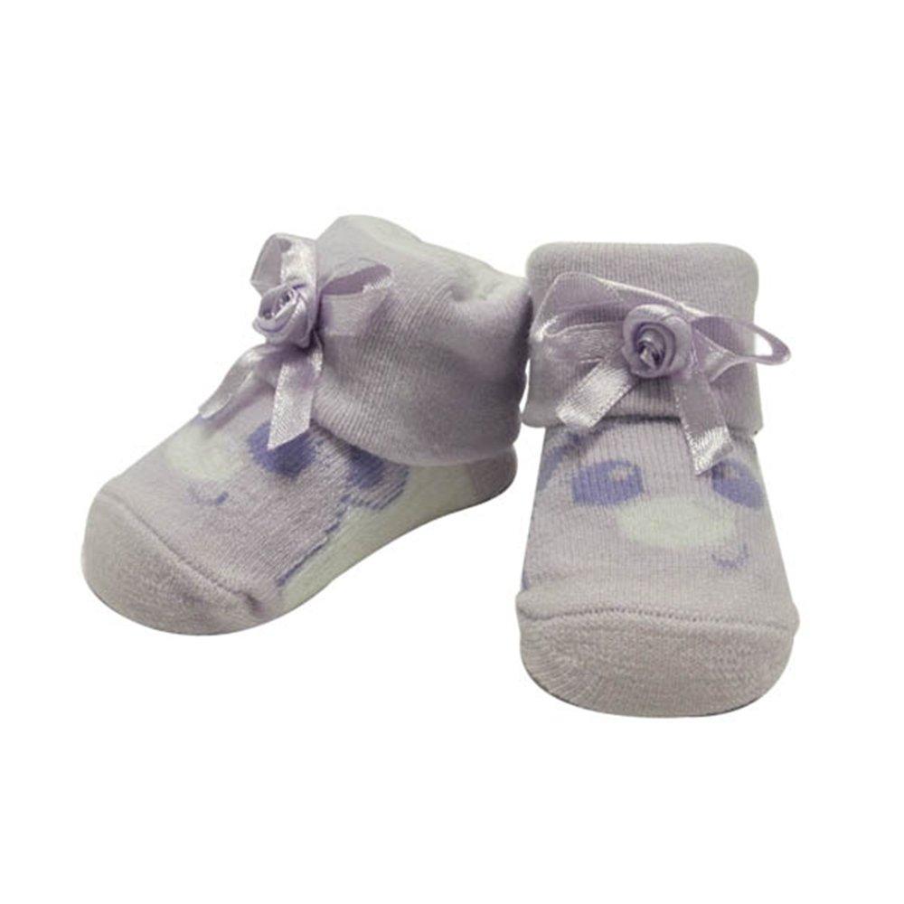Purple Cutie Face Baby Socks