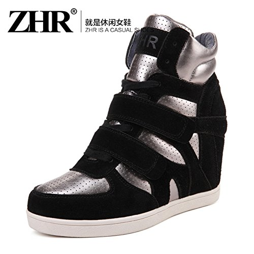 Shoes Shoes High Korean Bottom For Leisure Sports Flat Jurchen Stealth Winter Leather Shoes With C Fall Increased 5WW0Orc